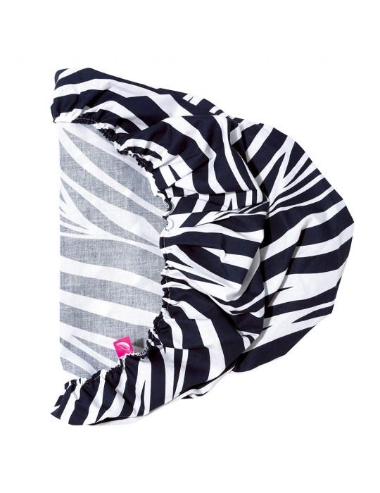 Motherhood Prześcieradło do gondoli kosza Mojżesza35/75 Zebra Niebieska