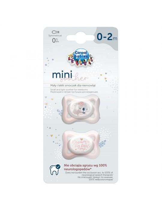Babies smoczek silikonowy 0-2 m-cy symetryczny Mini różowy