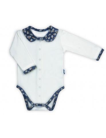 Nicol Body niemowlęce bawełniane rozpinane długi rękaw Sonia 56-62