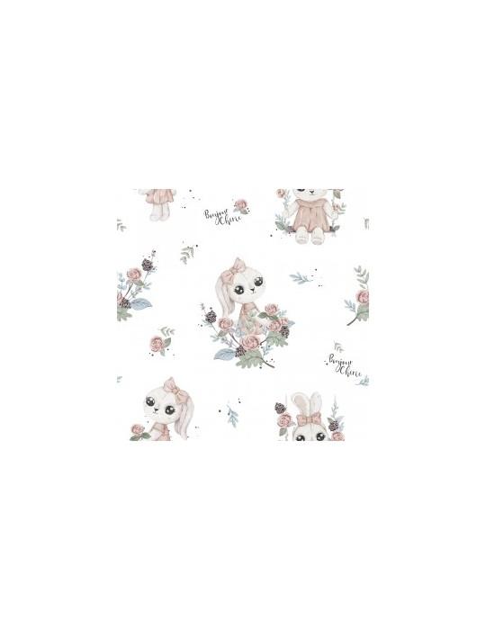 Bonjour Śpiworek bawełniany 0-6m Romantyczny królik
