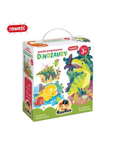 CzuCzu Puzzle progresywne dinozaury 3+