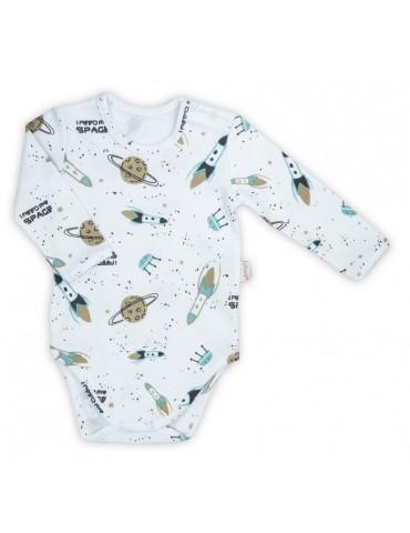 Nicol Body niemowlęce bawełniane długi rękaw Star 68-74