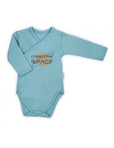 Nicol Body niemowlęce bawełniane rozpinane długi rękaw niebieskie Star 56-62