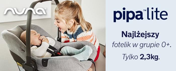 Nuna Pipa Lite - najlżejszy dziecięce fotelik samochodowy w grupie 0+