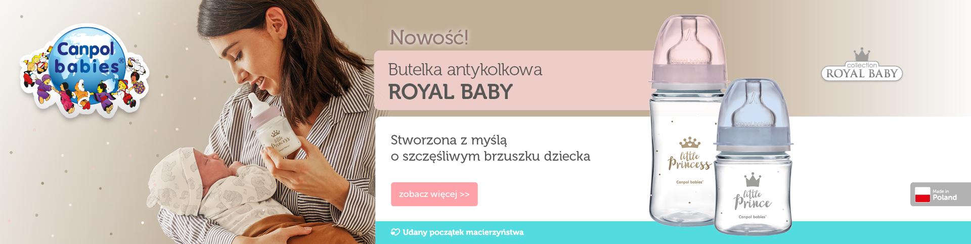 Nowość Canpol Babies - butelka antykolkowa Royal Baby