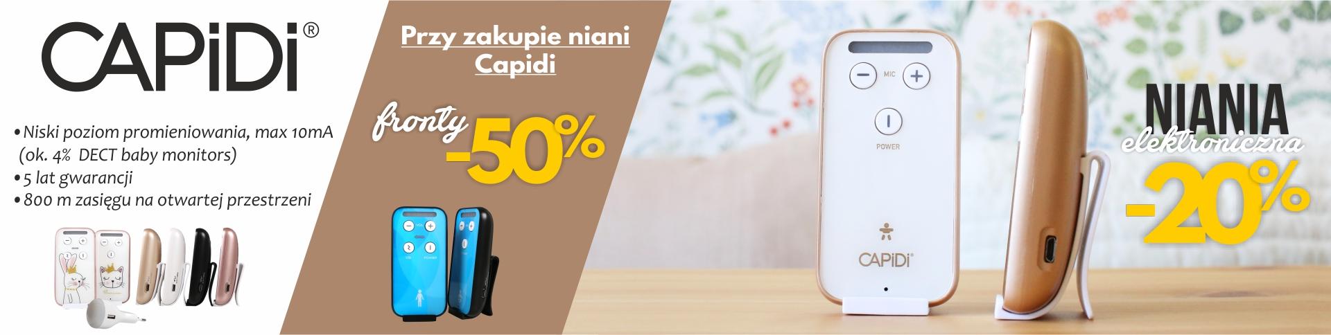 Capdi niania elektroniczna -20% + fronty za 50% ceny