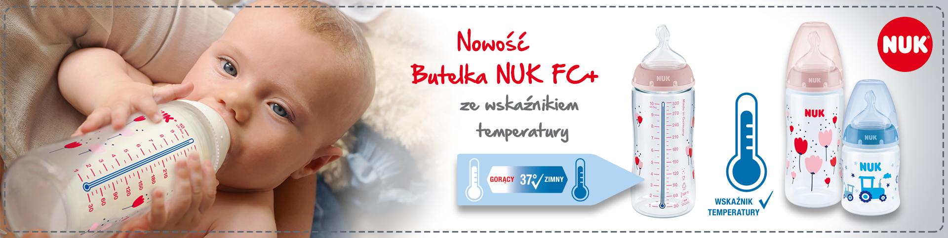Nowość - Butelka NUK FC+ ze wskaźnikiem temperatury